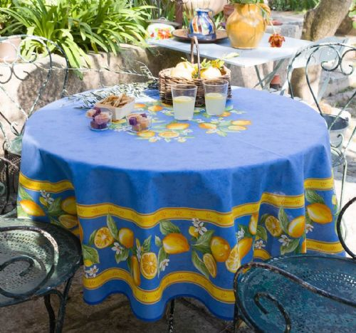Lemons Tablecloth Round
